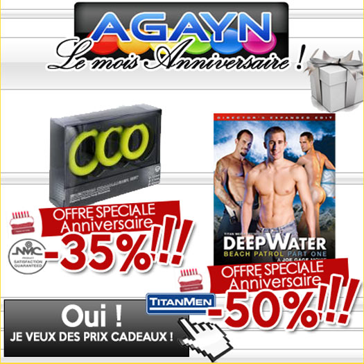 anniversaire AGayN magasin sex shop gay en ligne